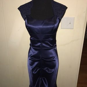 Navy formal or prom dress